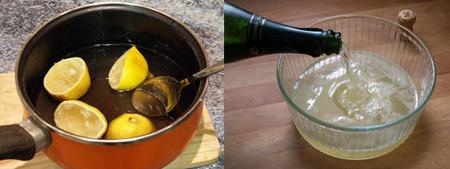 sorbete de limón al cava elaboración 1