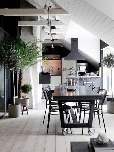 Una casa en la que combinar el estilo rústico y el moderno