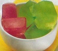 Cubitos con color y sabor