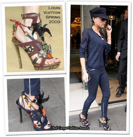 Victoria Beckham y sus sandalias de Louis Vuitton