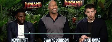"""""""Es la oportunidad de crear una 'Jumanji' para dársela a una nueva generación"""": Dwayne Johnson, Kevin Hart y Nick Jonas"""