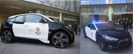 Adiós a los coches patrulla de las películas: la policía de Los Ángeles patrullará en Tesla Model S P85D y BMW i3