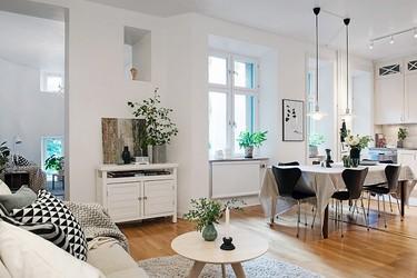 Un piso de aires nórdicos en Gotemburgo