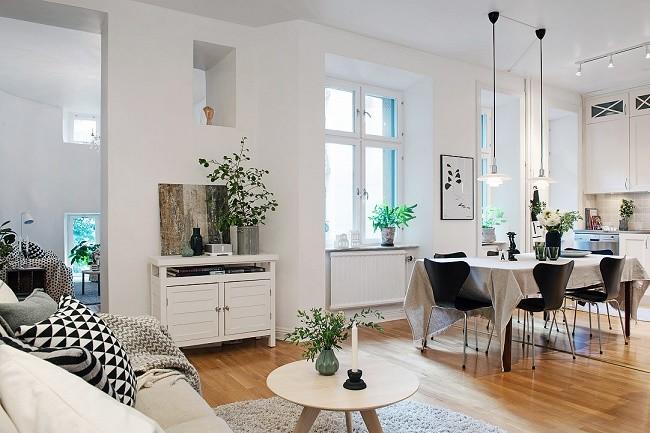 Un piso de aires nórdicos en Goteburgo