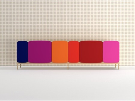 Puertas de colores y bordes redondeados para una colección de armarios alegre y divertida