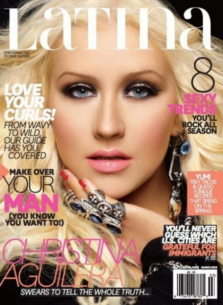Christina Aguilera, portada de la revista Latina: con más filtros que Sara Montiel
