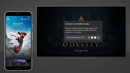 Google Stadia nos muestra cómo se vincula su mando a un Chromecast Ultra