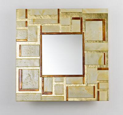 Quadro, espejos en oro y plata de Stocco