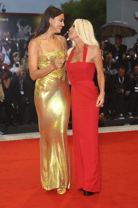 Donatella Versace E Irina Shayk