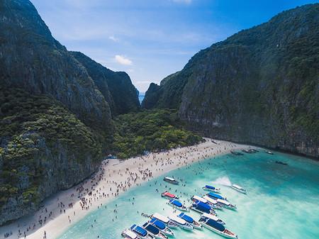 Playa Maya Bay Thailandia El Impacto De Los Influencers En El Medio Ambiente