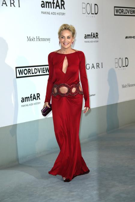 Sharon Stone amfar Cannes 2014