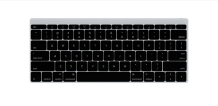 Keyboard Front Silver