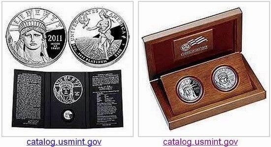 Moneda de platino