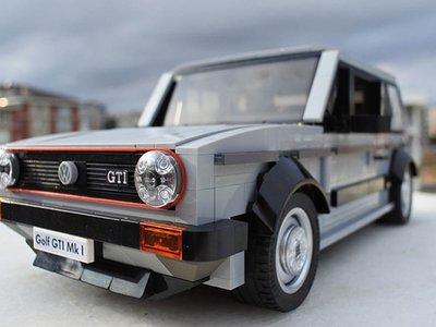 Tu sueño de fan es este Volkswagen GTI Mk1 creado con bloques de Lego