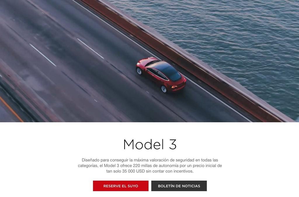 Tesla Model tres Reserva