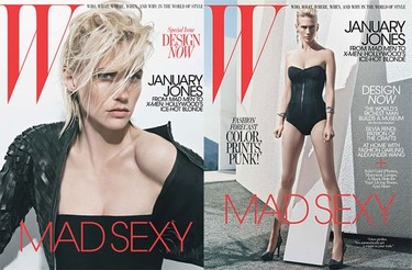 January Jones se desmelena para W Magazine