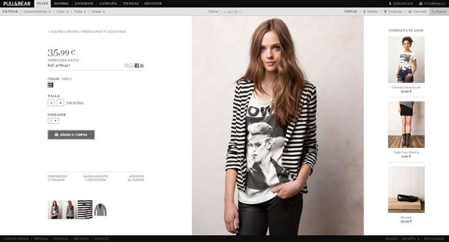 Mujer compra Pull and bear tienda online