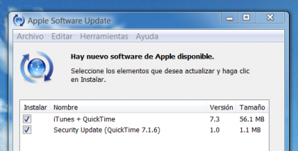 iTunes 7.3. con soporte para el iPhone