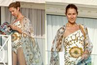 El look para la playa de Celine Dion