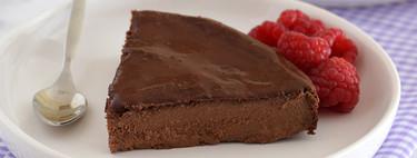 Tarta de queso y chocolate para dos. Receta fácil para compartir y conquistar