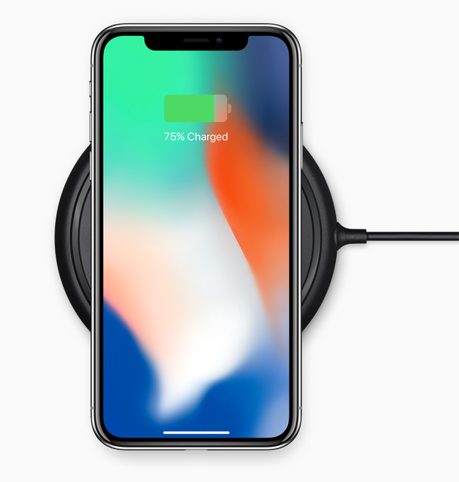 iPhone X carga inalámbrica