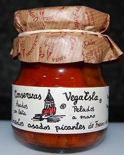 Pimientos asados picantes de Fresno de la Vega