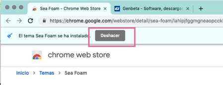 Deshacer Nuevo Tema Chrome