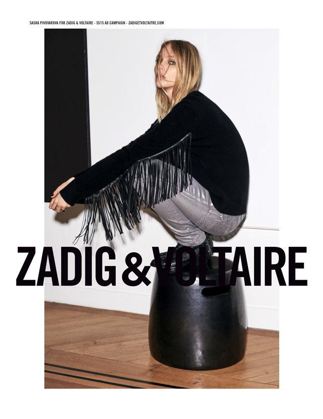 Sasha Pivovarova imagen de Zadig&Voltaire