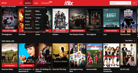 Iflix Malaysia 2 Popular Movie Lists