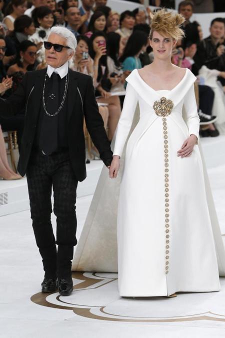 vestido de novia chanel