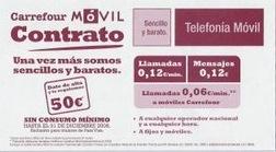 Los contratos de Carrefour Móvil: 12 céntimos minuto