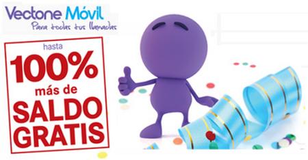 Hasta 100% de saldo gratis con Vectone Movil