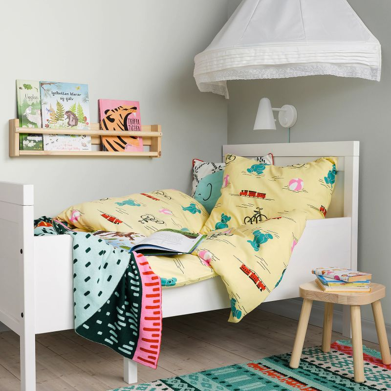 Estruc cama extens+somier láminas, blanco80x200 cm