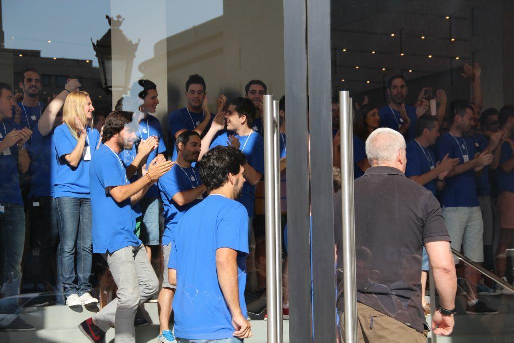 Inauguración de la Apple Store del paseo de Gracia