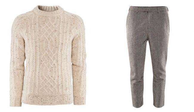 Jersey y pantalón de tweed en H&M