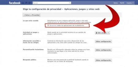 Una forma para evitar compartir información con aplicaciones terceras en Facebook