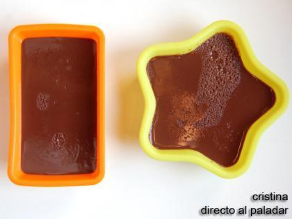 Flan rapido de chocolate