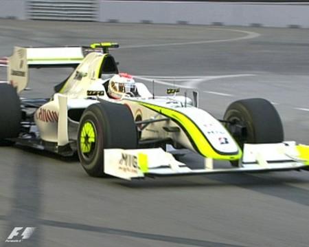 Rubens Barrichello y Brawn GP dominan los primeros libres en Singapur