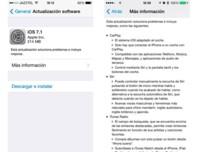 iOS 7.1 ya disponible para su descarga