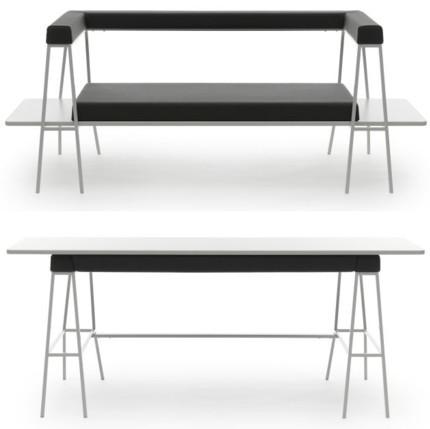 The Flip, sofá y mesa en un solo mueble