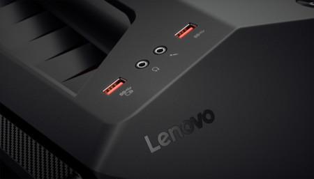Lenovo Ideacentre Y710 Cube Closeup Ports Lenovo Logo Jpg