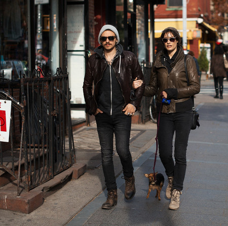 pareja moderna street stye