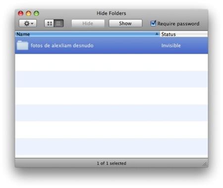 Hide Folders, esconde carpetas de manera sencilla en Mac