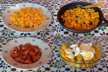 Ensalada de Calabaza y Tomate. Pasos