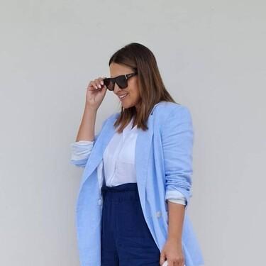 Paula Echevarría nos propone un look perfecto para ir a la oficina este verano con prendas de Mango y Stradivarius