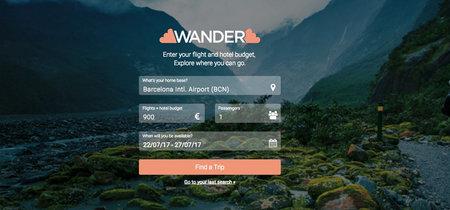 Wander, una web que te recomienda vuelos y hoteles según tu presupuesto