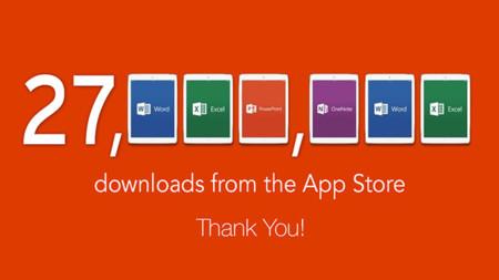 Microsoft Office para iPad ya acumula más de 27 millones de descargas en la App Store
