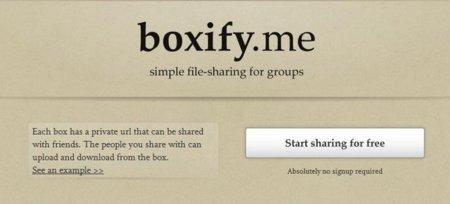 Boxify.me, comparte archivos pequeños entre grupos o equipos de trabajo rápidamente