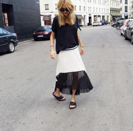Duelo de faldas (y de outfits): la versión Céline de Zara triunfa entre las bloggers