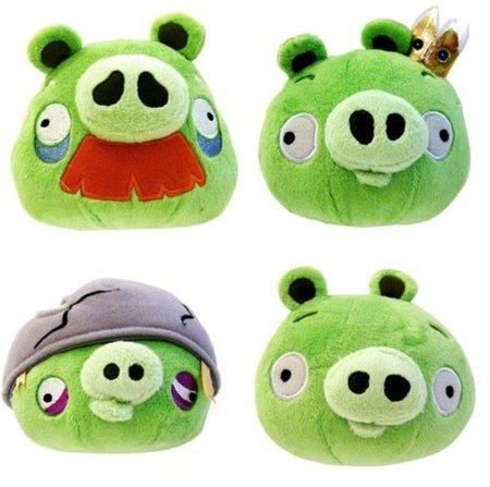 Nuevos cerdos para el catálogo de peluches de Angry Birds